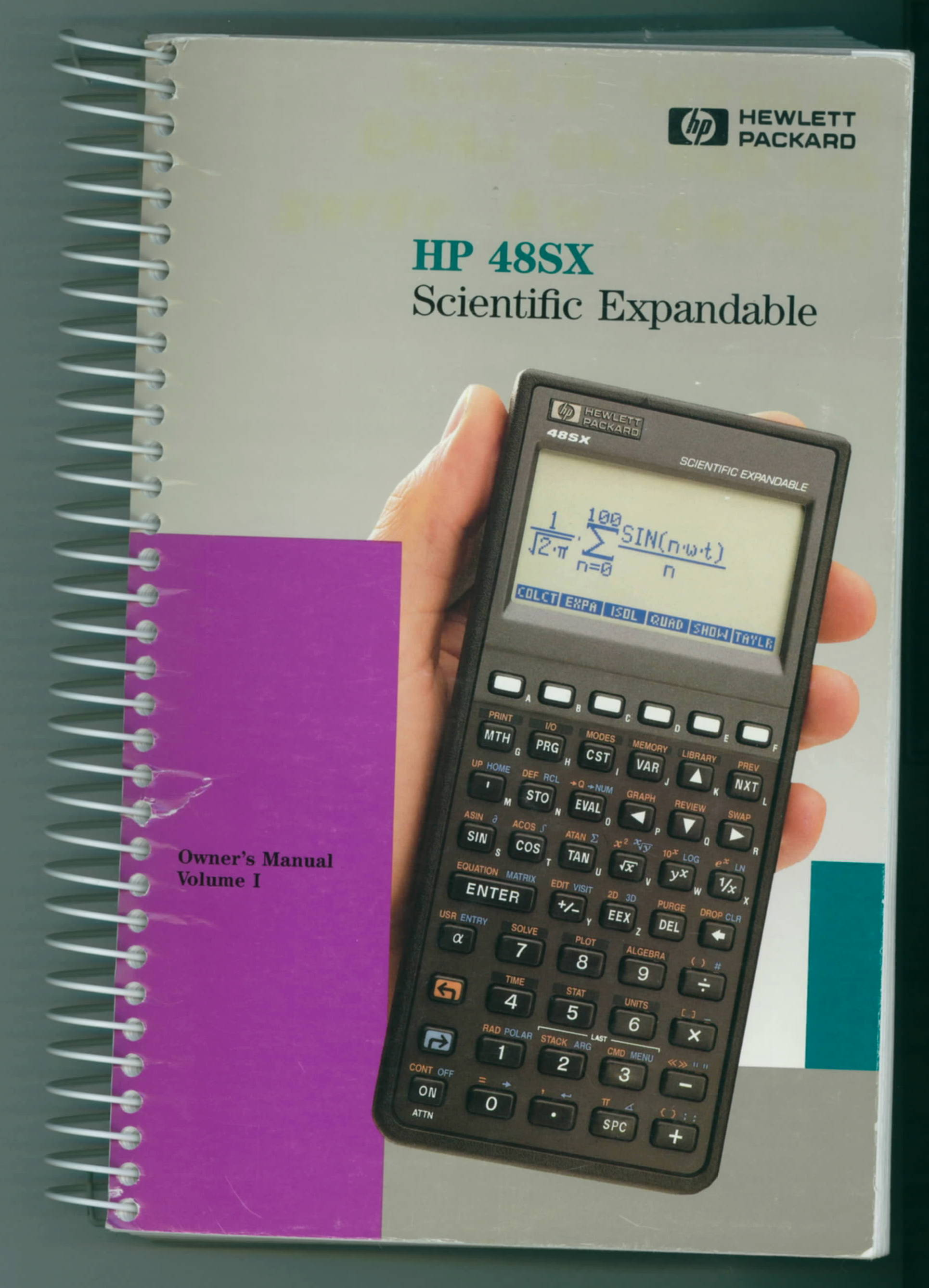 Hp calculator 48sx with case and user manuals # 403.